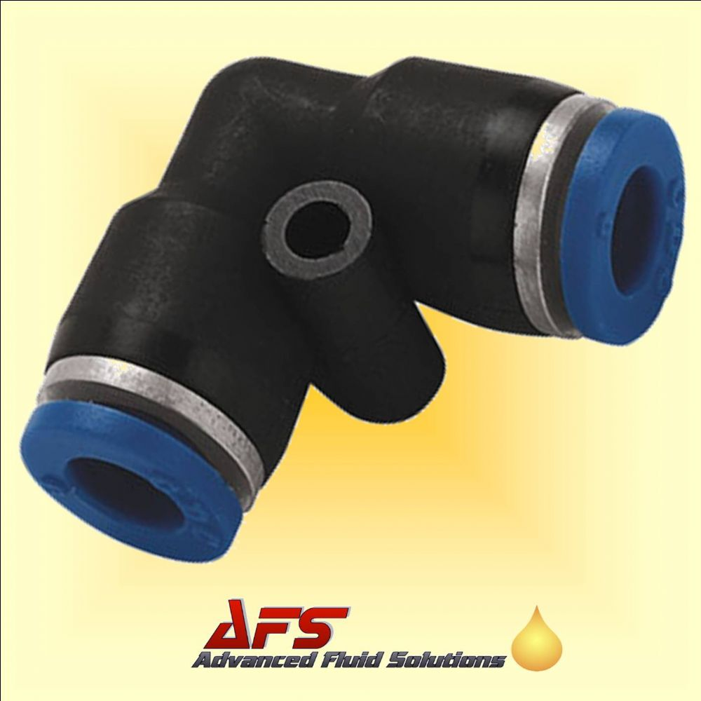 8mm Equal Elbow 90 Push In Fitting Nylon Pipe Tube Connector